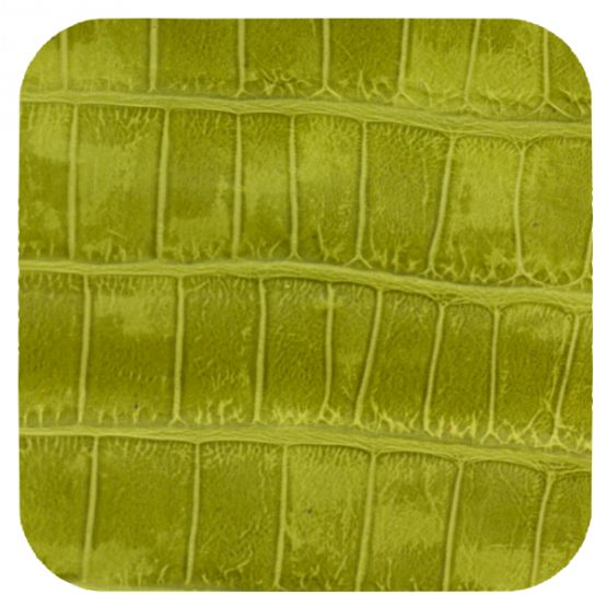 lime green croc leather