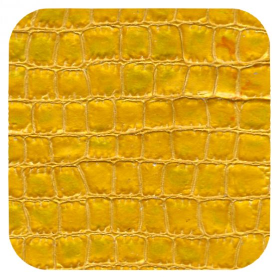 yellow croc leather