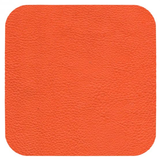matt orange leather